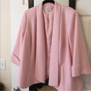 KASPER Pink Drape Front Blazer 22W